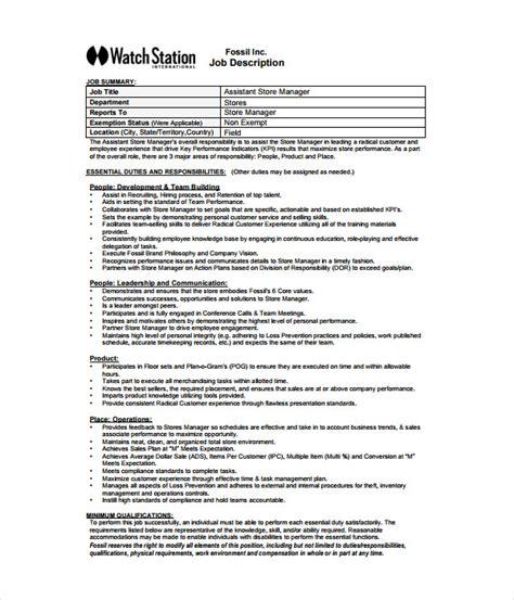 supervisor description template 21 description templates free word pdf documents