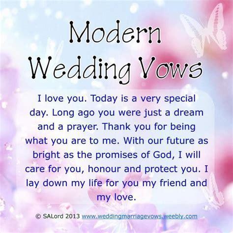 Modern Wedding Vows   Future ideas :)