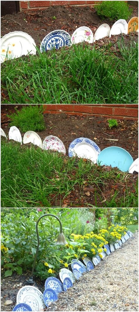 Recycled Garden Edging Ideas Creative Garden Edging Ideas