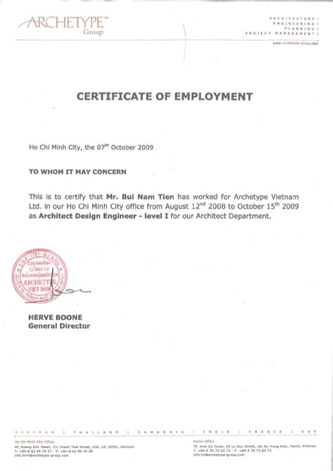 Employment Certificate Letter Word Experience Certificate Format Letter Mezndaf
