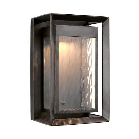 feiss urbandale antique bronze outdoor integrated led wall