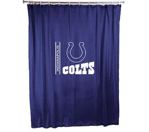 colts curtains nfl indianapolis colts shower curtain h144967 qvc com