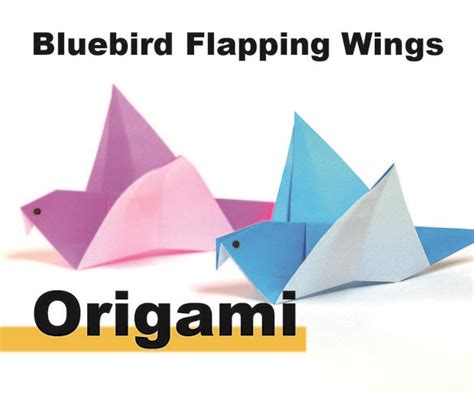 Origami Blue Bird - how to origami a flapping blue bird