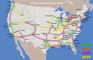 united states rail map new u s high speed rail association presents network plan