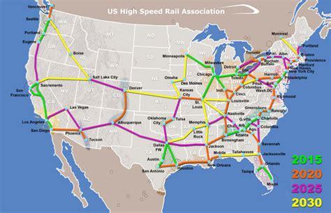 New Construction House Plans New U S High Speed Rail Association Presents Network Plan