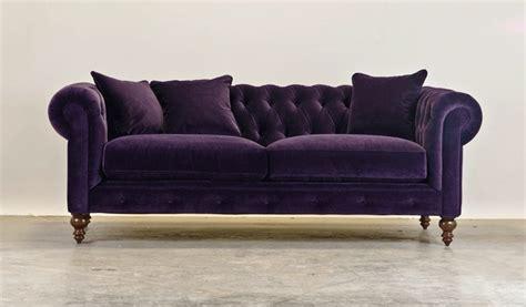 aubergine velvet sofa aubergine velvet chesterfield interiors exteriors