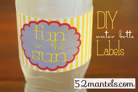 diy water bottle labels template 52 mantels diy water bottle labels plus a free printable