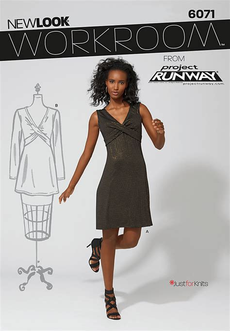 New Look 6071 Workroom From Project Runway Misses Knit
