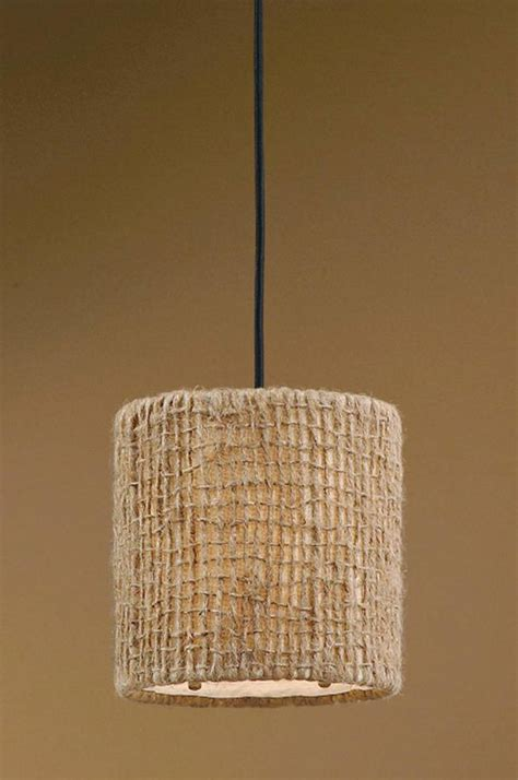 Burlap Pendant Light Jute Twine Drum Shade Pendant Lighting Lighting