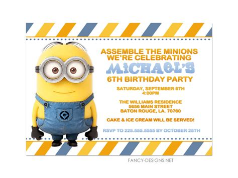 Coffee Mug Ideas by Minion Birthday Party Invitations 10 Invitations By Fancybelle