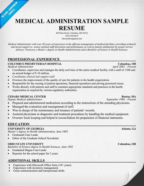 chief administrator resume chief administrator resume office