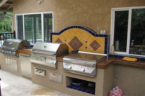 outdoor kitchen against house outdoor kitchens bbq islands eclectic landscape san