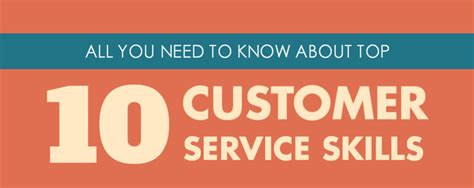 infographic the top 10 customer service skills you need to onereach