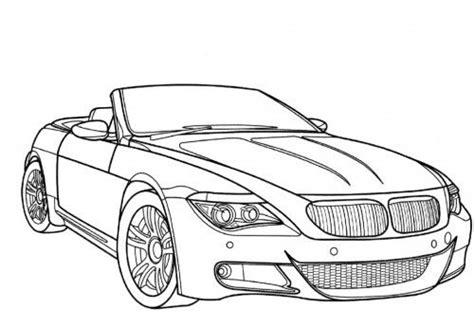 Coloring Pages Of Convertible Cars