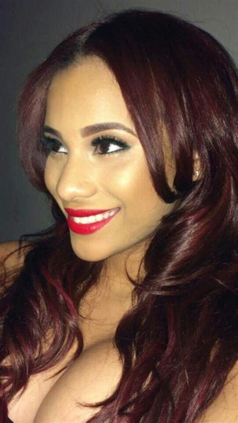 what color red is cyn santanas hair cyn santana cynn pinterest colors hair and the o jays