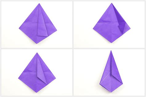 Folding Paper Hats - how to make an origami witch hat