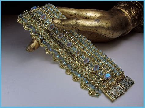 bead loom bracelets for sale 24k gold opal bead loomed cuff by erin simonetti wow