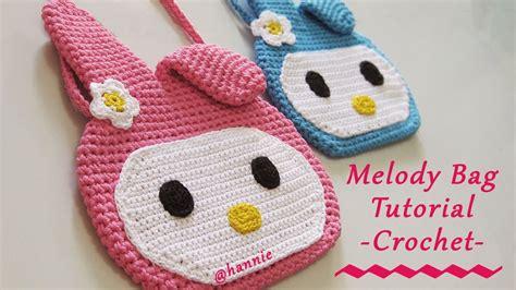 tutorial memasang resleting tas rajut crochet tutorial tas rajut karakter melody untuk anak