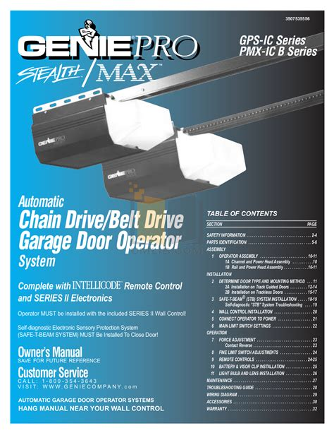 Genie Pro Max Garage Door Opener Manual Free Pdf For Genie Promax Garage Door Opener Other Manual