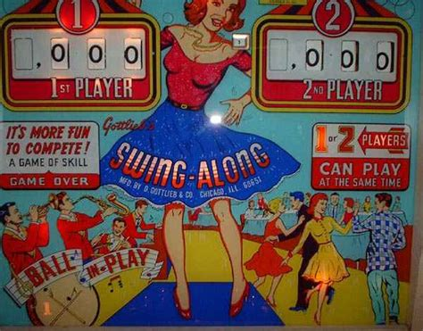 swing along swing along pinball by gottlieb of 1963 at www