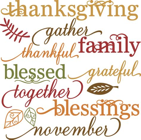 words of thanksgiving thanksgiving words set svg cut files for scrapbooking
