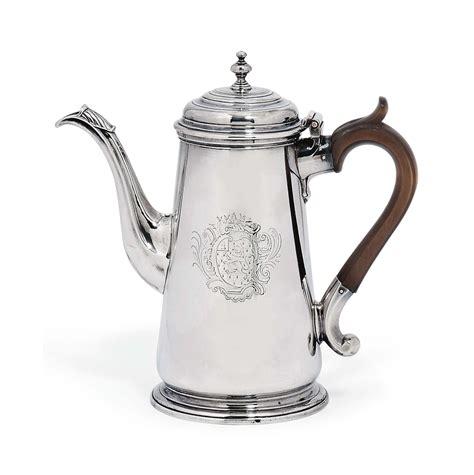 Coffee Pot by A George Ii Silver Coffee Pot Of Peze Pilleau
