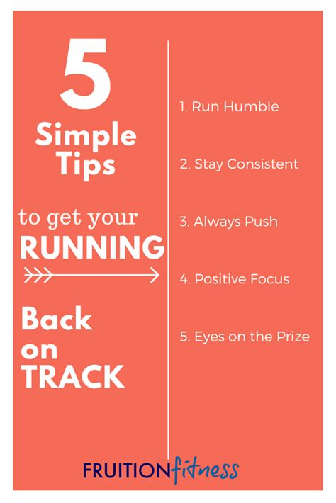 Get Your On Track by 5 Simple Tips To Get Your Running Back On Track Fruition