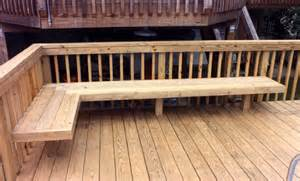 deck railing with bench seating built in deck seating as railing google search new