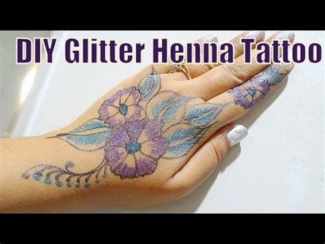 diy glitter colored henna inspired mehndi tattoo hennaandnailart youtube