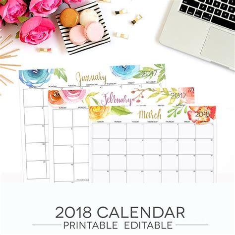 calendar 2018 template pdf 2018 printable calendar template pdf january 2018 calendar