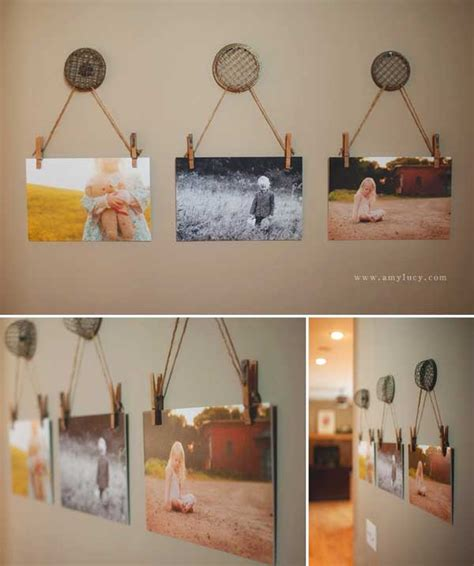 hanging picture ideas top 35 creative decorating diys can make with clothespins
