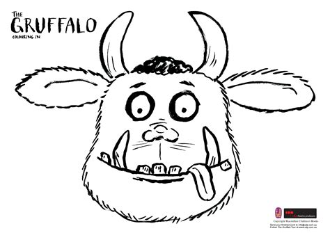 Gruffalo Mouse Outline by Colouring Picture Gruffalo Free The Gruffalo Mouse Coloring Pages The Gruffalo Colouring