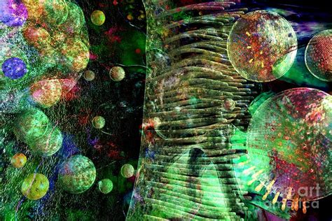 Wall Painting Colours by Microscope Dreaming 5 Digital Art By Russell Kightley