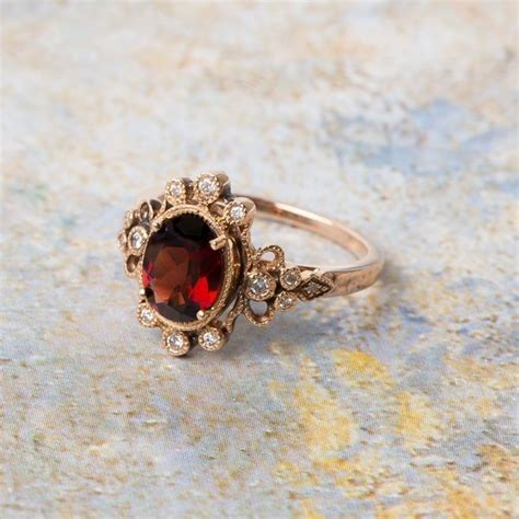 garnet engagement rings meaning spininc rings