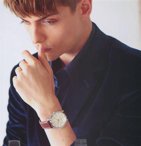 boy model robbie silver pawel bednarek in burberry black label for mens fudge
