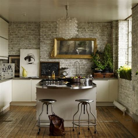 Brick Wall In The Kitchen by White Painted Brick Designs By Katy