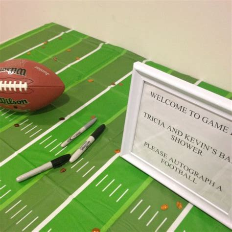 Baby Shower Football Theme by Koo Football Themed Baby Shower Autograph The Football