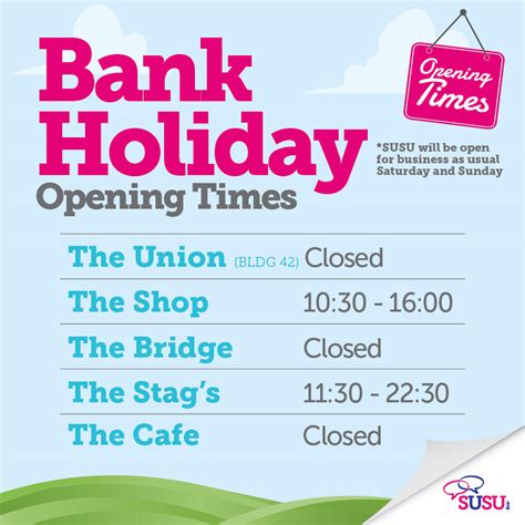 maplin bank opening times bank monday 6th may 187 students union