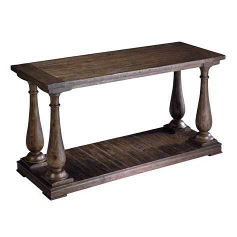 Shop Magnussen Home Densbury Natural Pine Pine Rectangular Pine Sofa Tables
