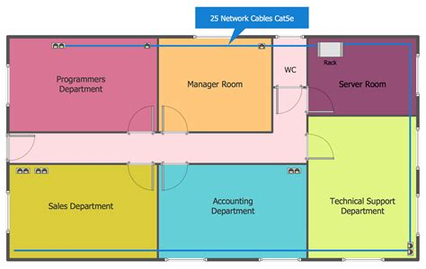 network floor layout network layout floor plans solution conceptdraw com