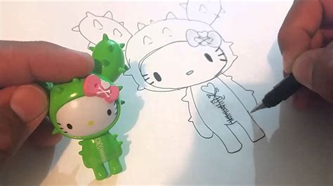 draw sandy cactus tokidoki  kitty  ink