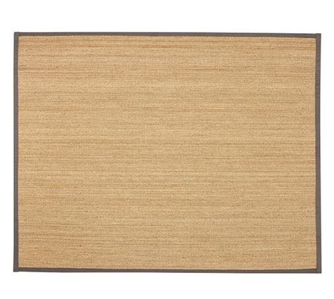 Custom Seagrass Rugs by Fibreworks 174 Custom Color Bound Seagrass Rug Gray Pottery Barn