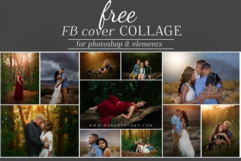 cover photo collage template photoshop free cover photo template burks