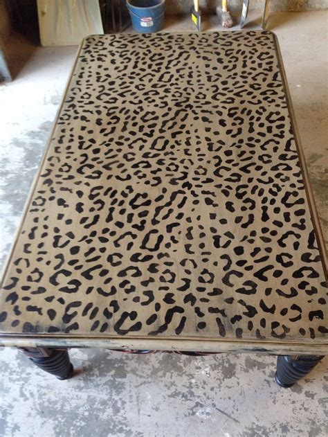 leopard print table l leopard print coffee table my handiwork