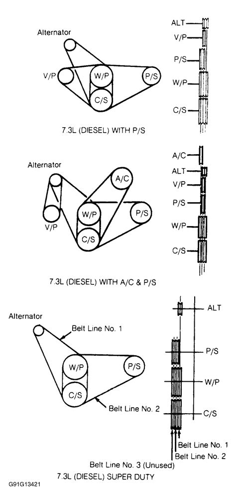 97 ford belt diagram 1989 ford ranger serpentine belt routing and timing belt