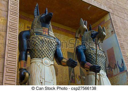 chacales de guerrero stock de fotos de antiguo arte egipcio anubis