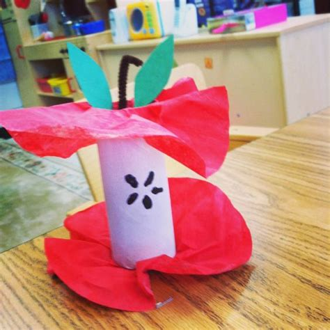 Preschool Toilet Paper Roll Crafts - preschool apples toilet paper rolls and coffee filters on
