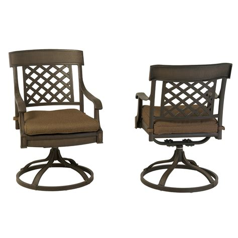 swivel patio dining chairs enlarged image