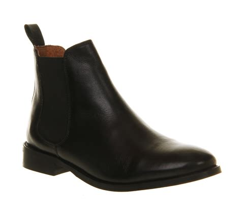 black leather chelsea boots lyst office bramble chelsea boots in black