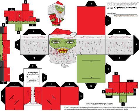 imagenes de santa claus para armar cubee zombie santa by cyberdrone on deviantart